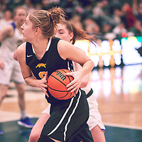 2nd year forward, Macaela Crone (8) of the Regina Cougars during the Women's Basketball Home Game on Fri Feb 15 at Centre for Kinesiology,Health and Sport. Credit: Arthur Ward/Arthur Images