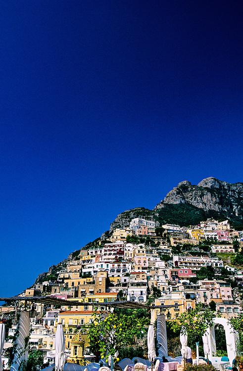 View from Hotel Le Sirenuse, Positano, Amalfi Coast, Italy