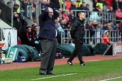 Peterborough United Manager Steve Evans rues a missed chance to score - Mandatory by-line: Joe Dent/JMP - 30/03/2018 - FOOTBALL - Aesseal New York Stadium - Rotherham, England - Rotherham United v Peterborough United - Sky Bet League One