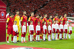 October 8, 2017 - Warsaw, Poland - National football team of Montenegro during the FIFA World Cup 2018 Qualifying Round Group E match between Poland and Montenegro at National Stadium in Warsaw, Poland on October 8, 2017  (Credit Image: © Andrew Surma/NurPhoto via ZUMA Press)