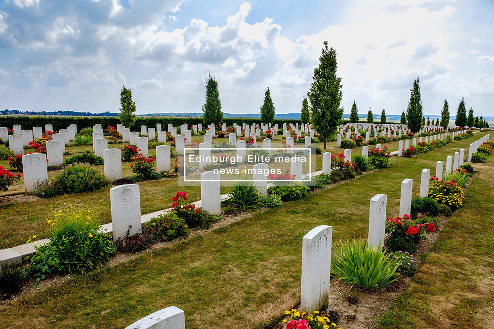 The Villers-Bretonneux Military Cemetery near the Somme in northern France.  There are 2,144 Commonwealth servicemen of the First World War buried or commemorated in this cemetery, 605 of whom remain unidentified.<br /> <br /> (c) Andrew Wilson   Edinburgh Elite media