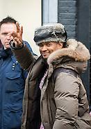 Usher during shopping at Antwerp
