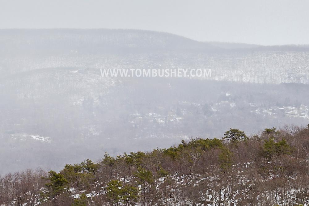 Salisbury Mills, New York - Views of Schunnemunk Mountain  on March 3, 2013.