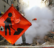 Men at work on Madison Avenue in new York City