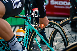 Riders with Bianchi OltreXR4 of Team LottoNL-Jumbo before the UCI WorldTour 103rd Liège-Bastogne-Liège from Liège to Ans with 258 km of racing at Liège (258 km to go), Belgium, 23 April 2017. Photo by Pim Nijland / PelotonPhotos.com | All photos usage must carry mandatory copyright credit (Peloton Photos | Pim Nijland)