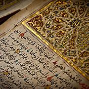 Marrocan style biograhphy manuscript of the prophet Mahoma the CEDRAB ( Centre de Documentation et Recherches Historiques Ahmed Baba) .Timbuktu. Mali.North Africa.