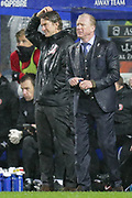 QPR manager Steve McClaren and Brentford manager Dean Smith during the EFL Sky Bet Championship match between Queens Park Rangers and Brentford at the Loftus Road Stadium, London, England on 10 November 2018.