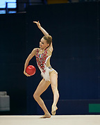 """Eleonora Tagliabue during the """"1st Trofeo Citta di Monza"""" tournament. On this occasion we have seen the rhythmic gymnastics teams of Belarus and Italy challenge each other. The Bilateral period was only June 9, 2019 at the Candy Arena in Monza, Italy."""