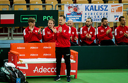 Radoslaw Szymanik and other players of Poland  during the Day 1 of Davis Cup 2018 Europe/Africa zone Group II between Slovenia and Poland, on February 3, 2018 in Arena Lukna, Maribor, Slovenia. Photo by Vid Ponikvar / Sportida