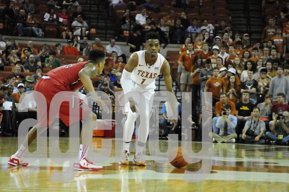 Feb 14, 2015: The University of Texas at Austin vs. Texas Tech Frank Erwin Center, Austin, Texas.