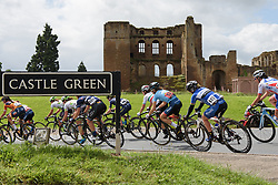 Peloton speed past Kenilworth Castle - Stage 3 of the OVO Energy Women's Tour - a 151 km road race, between Atherstone and Royal Leamington Spa on June 9, 2017, in Warwickshire, United Kingdom. (Photo by Sean Robinson/Velofocus.com)