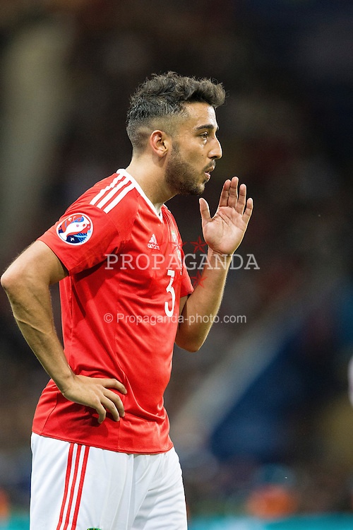 TOULOUSE, FRANCE - Monday, June 20, 2016: Wales' Neil Taylor during the final Group B UEFA Euro 2016 Championship match against Russia at Stadium de Toulouse. (Pic by Paul Greenwood/Propaganda)