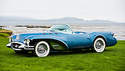 General Motors displays a collection of Concept Cars from the Motorama of the mid 1950s on the 18th Green of the 2008 Pebble Beach Concours de Elegance. 1954 Buick Wildcat II.