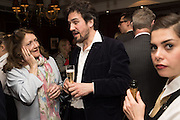 THE COUNTESS OF LICHFIELD, CHARLIE CAMPBELL, David Campbell Publisher of Everyman's Library and Champagen Bollinger celebrate the completion of the Everyman Wodehouse in 99 volumes and the 2015 Bollinger Everyman Wodehouse prize shortlist. The Archive Room, The Goring Hotel. London. 20 April 2015.