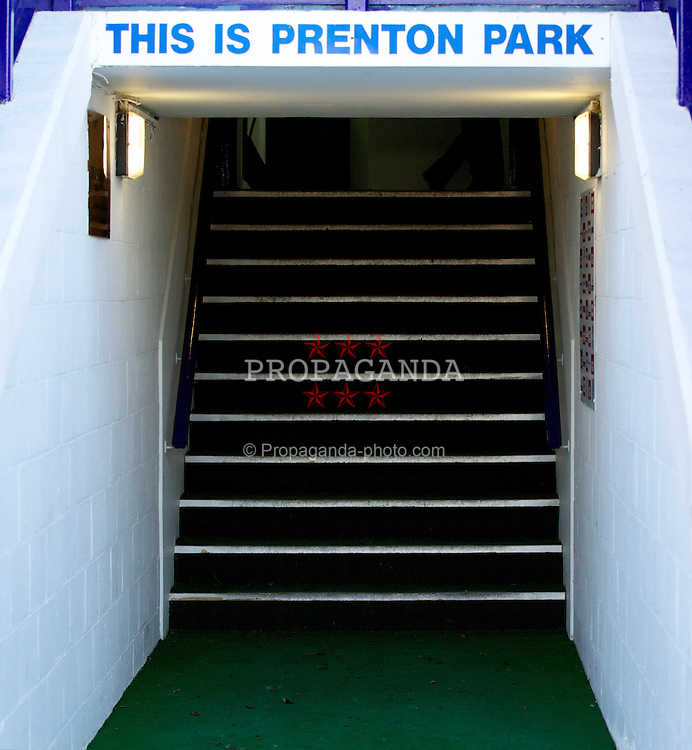 BIRKENHEAD, ENGLAND - Saturday, February 18, 2012: Prenton Park before the Football League One match between Tranmere Rovers and Charlton Athletic. (Pic by Vegard Grott/Propaganda)