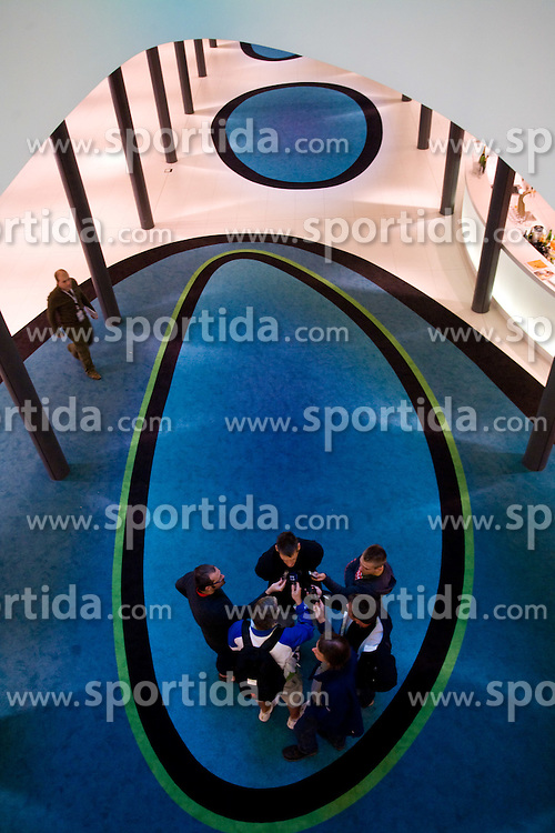 Goran Jagodnik (12) of Slovenia interviewed  in a Andel's Hotel during Eurobasket 2009, on September 13, 2009 in  Lodz, Poland.  (Photo by Vid Ponikvar / Sportida)