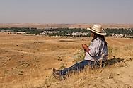 Crow Fair, Henry Real Bird, Crow Indian, Poet, Author, Elder, Bucking Horse Contractor, Crow Indian Reservation, Montana
