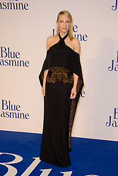 Blue Jasmine - UK film premiere. <br /> Cate Blanchett arrives for the Blue Jasmine film premiere, Odeon, London, United Kingdom. Tuesday, 17th September 2013. Picture by Chris Joseph / i-Images