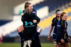 Carys Cox of Worcester Warriors Women celebrates victory over Bristol Bears Women- Mandatory by-line: Robbie Stephenson/JMP - 01/12/2019 - RUGBY - Sixways Stadium - Worcester, England - Worcester Warriors Women v Bristol Bears Women - Tyrrells Premier 15s