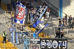31.07.2015, SchücoArena, Bielefeld, GER, 2. FBL, DSC Arminia Bielefeld vs FSV Frankfurt, 2. Runde, im Bild FSV Fans // during the 2nd German Bundesliga 2nd round match between DSC Arminia Bielefeld and FSV Frankfurt at the SchücoArena in Bielefeld, Germany on 2015/07/31. EXPA Pictures © 2015, PhotoCredit: EXPA/ Eibner-Pressefoto/ RRZ<br /> <br /> *****ATTENTION - OUT of GER*****