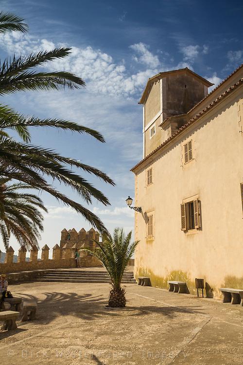 Glocken turm  der KircheSant Salvador, Artà, Mallorca, Spanien