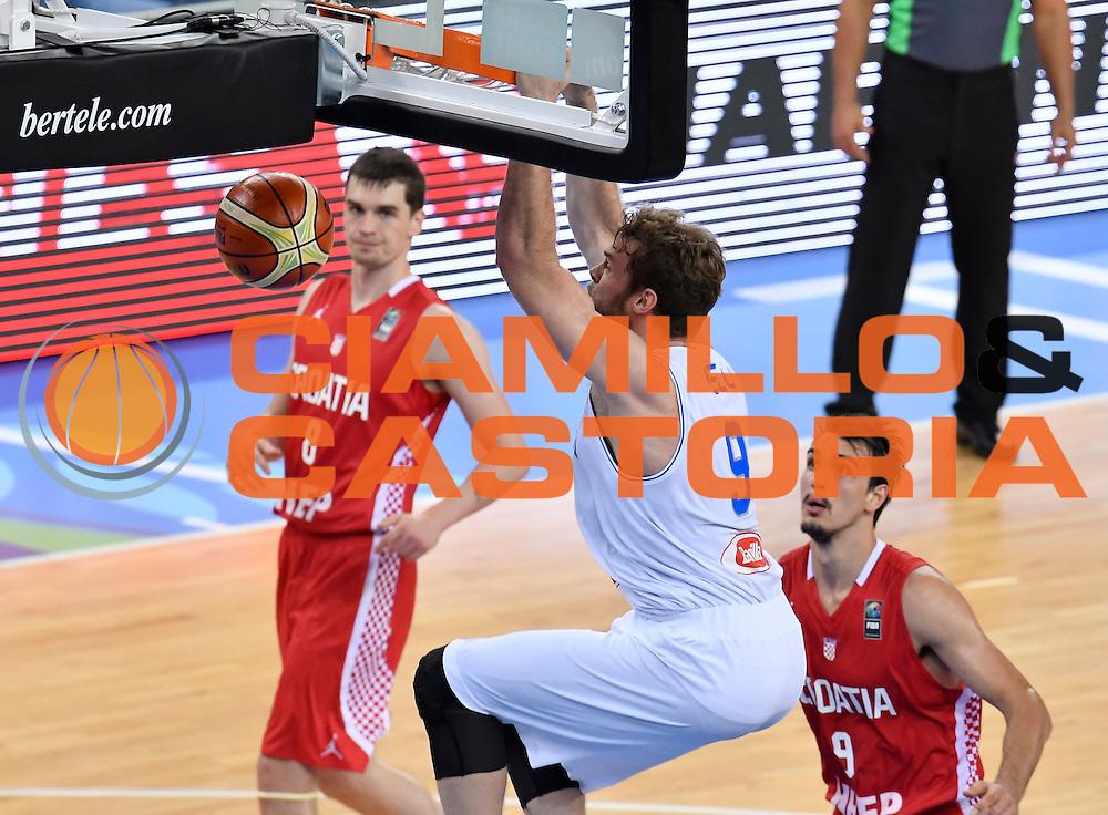 DESCRIZIONE: Torino FIBA Olympic Qualifying Tournament Italia - Croazia<br /> GIOCATORE: NICOLO MELLI<br /> CATEGORIA: Nazionale Italiana Italia Maschile Senior<br /> GARA: FIBA Olympic Qualifying Tournament Italia - Croazia<br /> DATA: 05/07/2016<br /> AUTORE: Agenzia Ciamillo-Castoria