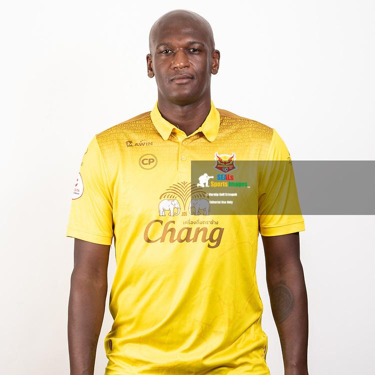 THAILAND - JUNE 29: Andre Joel Sami #3 of Sukhothai FC on June 29, 2019.<br /> .<br /> .<br /> .<br /> (Photo by: Naratip Golf Srisupab/SEALs Sports Images/MB Media Solutions)