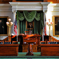 Texas State Capitol Senate Chamber in Austin, Texas<br />