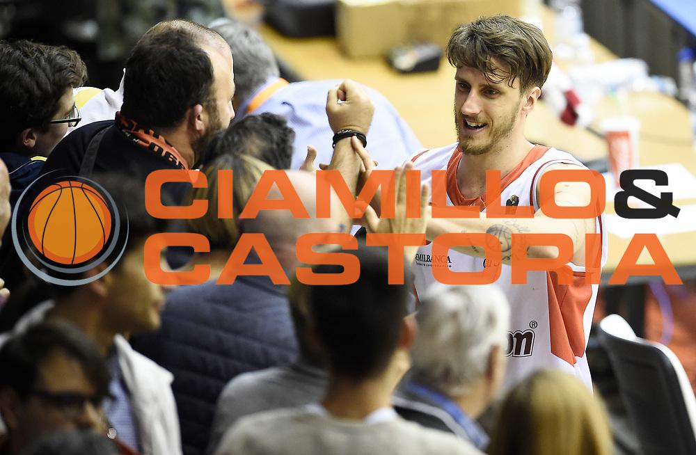Achille Polonara<br /> Grissin Bon Pallacanestro Reggio Emilia - The Flexx Pistoia Basket<br /> Lega Basket Serie A 2016/2017<br /> Reggio Emilia, 30/04/2017<br /> Foto A.Giberti / Ciamillo - Castoria