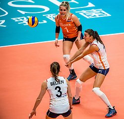 03-10-2018 JPN: World Championship Volleyball Women day 6, Yokohama<br /> Netherlands - Mexico 3-0 / Anne Buijs #11 of Netherlands