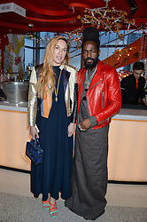 MARY-ALICE MALONE and  ROY LUWOLT at the OMEGA 100 days to Rio Olympics VIP Dinner at Sushi Samba, Heron Tower, 110 Bishopsgate, City of London on 27th April 2016.