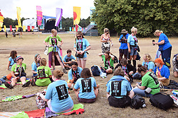 Latitude Festival, Henham Park, Suffolk, UK July 2019. Oxfam volunteers