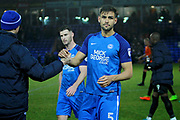Peterborough United defender Ryan Tafazolli (5) after the EFL Sky Bet League 1 match between Peterborough United and Southend United at London Road, Peterborough, England on 3 February 2018. Picture by Nigel Cole.
