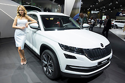 World premiere of Skoda Kodiaq large SUV at Paris Motor Show 2016