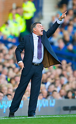 LIVERPOOL, ENGLAND - Sunday, September 20, 2009: Blackburn Rovers' manager Sam Allardyce during his side's 3-0 defeat by lowly Everton the Premiership match at Goodison Park. (Pic by David Rawcliffe/Propaganda)
