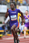 Alonso Edward (PAN) wins the 200m in 20.19 during the IAAF Continental Cup 2018 at Mestkey Stadion in Ostrava, Czech Republic, Saturday, Sept. 8, 2018. (Jiro Mochizuki/Image of Sport)