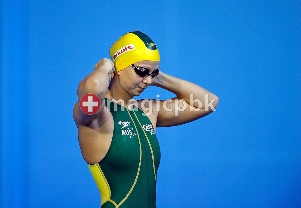Melanie SCHLANGER of Australia prepares herself for a 200m freestyle time trial after the heats in the Susie O'Neill pool at the FINA Swimming World Championships in Melbourne, Australia, Thursday 29 March 2007. (Photo by Patrick B. Kraemer / MAGICPBK)