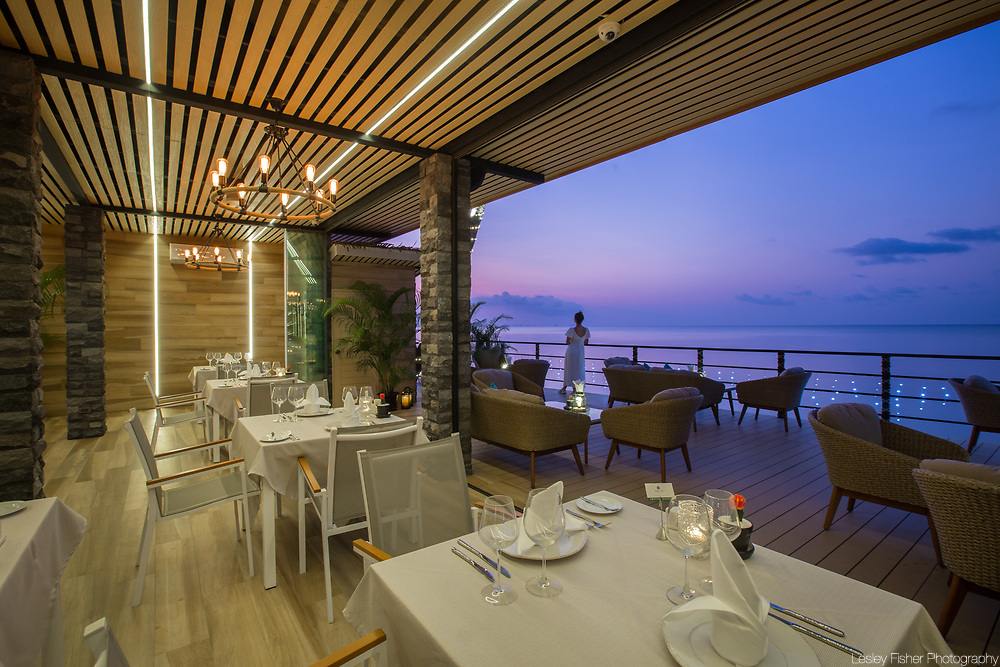 Lower restaurant at Sea and Sky beach front restaurant located on Ban Tai beach, Koh Samui, Thailand