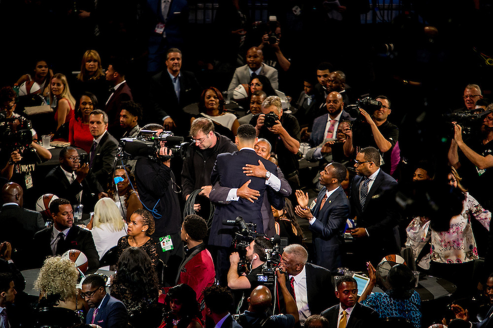 New York, New York - June 23, 2016: NBA draft prospect Ben Simmons is selected as the No. 1 pick during the NBA Draft at the Barclays Center New York, New York. (Sam Hodgson for ESPN)