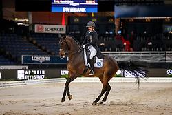 ABBELEN Anna-Christina (GER), Henny Hennessy<br /> Stuttgart - German Masters 2019<br /> PREIS DER LISELOTT SCHINDLING STIFTUNG ZUR FÖRDERUNG DES DRESSURREITSPORTS<br /> Piaff Förderpreis Finale<br /> Nat. Dressurprüfung Kl. S***<br /> Grand Prix<br /> 15. November 2019<br /> © www.sportfotos-lafrentz.de/Stefan Lafrentz