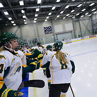 1st year forward Merissa Zerr (24) of the Regina Cougars during the Women's Hockey Home Game on October 14 at Co-operators arena. Credit: Arthur Ward/Arthur Images