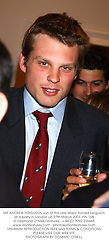 MR ANDREW FERGUSON son of the late Major Ronald Ferguson at a party in London on 27th March 2003.	PIN 158