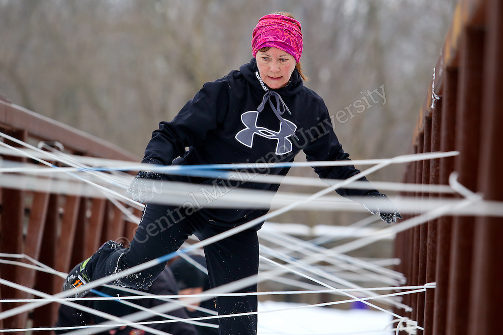 Man vs Mountain is a unique winter 5K obstacle course in Mt Pleasant, MI, that challenges participants to brave Michigan's brutal elements!