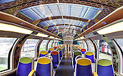 French Trains Are Being Turned Into Moving Art Museums<br /> <br /> Instead of encouraging people to visit their world-famous landmarks, France's national state-owned rail service SNCF has come up with a fantastic idea. They've decided to bring these landmarks to you, and you can enjoy them at your leisure during your morning commute to work.<br /> Working in collaboration with American manufacturing company 3M, the SNCF has been giving trains a series of artistic makeovers. They cover the interiors with graphic film that contains various famous works of art for passengers to peruse. Designs include flowers and furnishings from the Palace of Versailles, impressionist art from the Musée d'Orsay and images from Cinéma Gaumont, the oldest film company in the world.<br /> Not only has the series, titled Art In Transit, helped to make life more interesting for passengers; it's also apparently helped to deter vandals from damaging the trains. <br /> ©Exclusivepix Media
