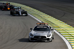 November 17, 2019, Sao Paulo, Brazil: Motorsports: FIA Formula One World Championship 2019, Grand Prix of Brazil, .  safety car, #44 Lewis Hamilton (GBR, Mercedes AMG Petronas Motorsport), #33 Max Verstappen (NLD, Aston Martin Red Bull Racing) (Credit Image: © Hoch Zwei via ZUMA Wire)