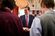 21 FEBRUARY 2012 - PHOENIX, AZ:  Former US Senator and Republican Presidential candidate RICK SANTORUM greets supporters at the Maricopa County Lincoln Day lunch in Phoenix. Santorum was in Phoenix Tuesday for an Arizona Republican party leadership luncheon ahead of the state's Republican Presidential Primary election and a CNN Republican Presidential Primary debate, which is Wednesday, Feb. 22.    PHOTO BY JACK KURTZ