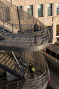 Stairway coming from London Bridge onto Hanseatic Walk, right outside Bryan Cave Leighton Paisner in Central London, United Kingdom.  (photo by Andrew Aitchison / In pictures via Getty Images)