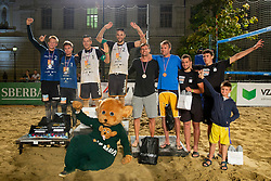Second placed Kumer/Mozic, Winners Pokersnik/Bozenk and Third placed Potocnik/Lah after Beach Volleyball Slovenian National Championship 2018, on July 21, 2018 in Kranj, Slovenia. Photo by Urban Urbanc / Sportida