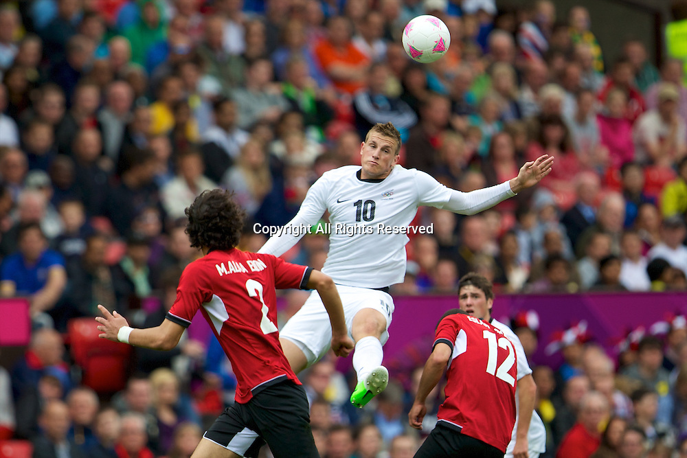 29.07.2012 Manchester, England. New Zealand forward Chris Wood in action during the first round group C mens match between Egypt and New Zealand.