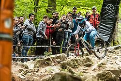 Monika Hrastnik during ladies elite run at Mercedes-Benz UCI Mountain Bike World Cup competition in Bike Park Pohorje, Maribor on 27th of April, 2019, Slovenia.  . Photo by Grega Valancic / Sportida